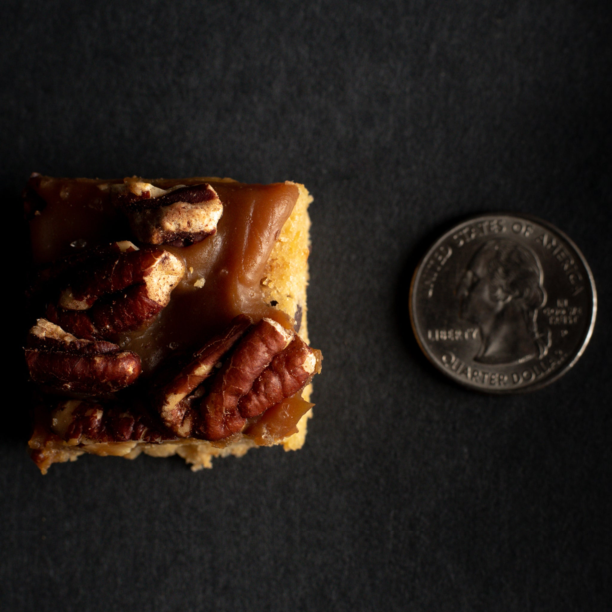 pecan and salted caramel blondies