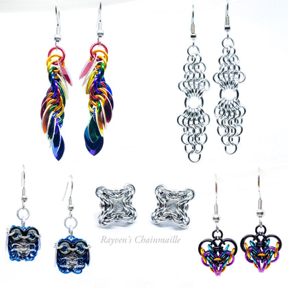 Rayven's Chainmaille| Earring Collection