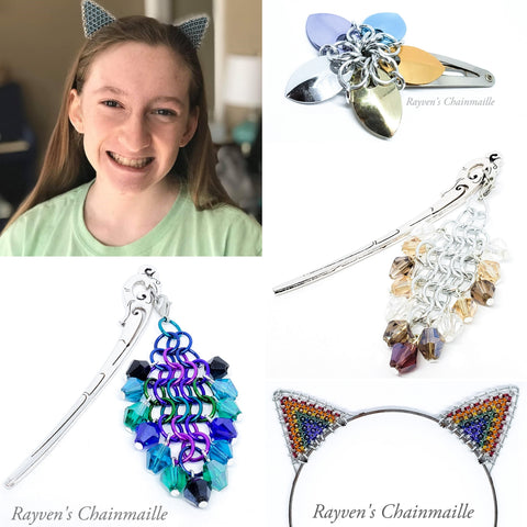 Rayven's Chainmaille| Hair accessories