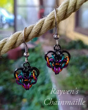 Load image into Gallery viewer, Rayven's Chainmaille | Small Chain Mail Heart Earrings