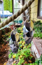 Load image into Gallery viewer, Silver Long Oops Scaled Chainmail Earrings - Rayven's Chainmaille