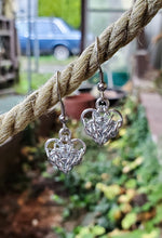 Load image into Gallery viewer, Rayven's Chainmaille| Small Chain Mail Heart Earrings