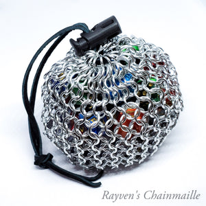 Medium Chainmaille Dice Bag