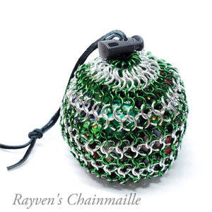 Rayven's Chainmaille| Green Large Chainmaille Dice Bag