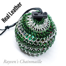 Load image into Gallery viewer, Rayven's Chainmaille| Green Large Chainmaille Dice Bag