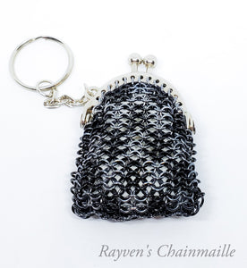 Rayven's Chainmaille| Gray & Black Chainmaille Coin Purse