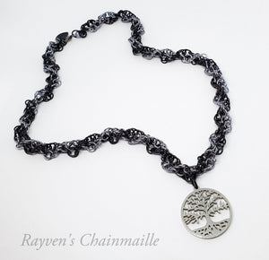 Rayven's Chainmaille| Tree of Life DNA Chainmaille Necklace