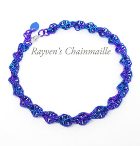 Rayven's Chainmaille| Double Helix Chainmail Anklet