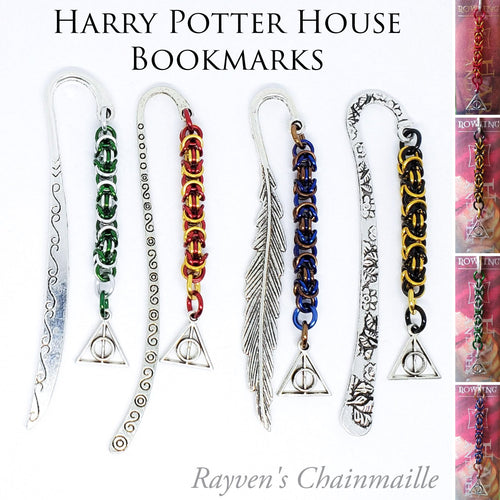 Harry Potter Deathly Hallows Chainmaille Bookmarks - Rayven's Chainmaille