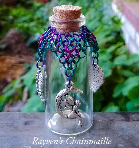 Fairy Charm Chainmaille Wishing Bottle - Rayven's Chainmaille