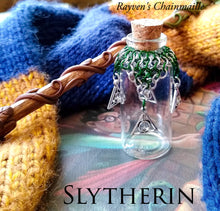 Load image into Gallery viewer, Harry Potter Slytherin Chainmaille Potion Bottle