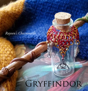 Rayven's Chainmaille| Harry Potter Gryffindor House Chainmaille Potion Bottles