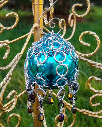 Rayven's Chainmaille| Caged Chainmail Christmas Ornament