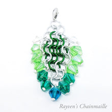 Load image into Gallery viewer, Rayven's Chainmaille| Hair Stick Elven Chainmail Decorative Dangle