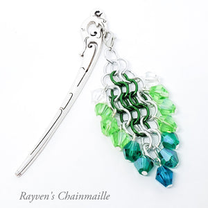 Rayven's Chainmaille| Hair Stick Elven Chainmail Decorative Dangle