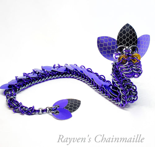 Rayven's Chainmaille| Deep Chainmail Dragon Sculpture