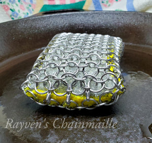 Rayven's Chainmaille| Large Chainmail Stainless Steel Kitchen & Grill Sponge Scrubber