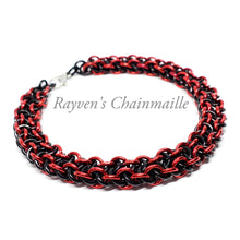 Load image into Gallery viewer, Rayven's Chainmaille| Vipera Berus Chainmaille bracelet