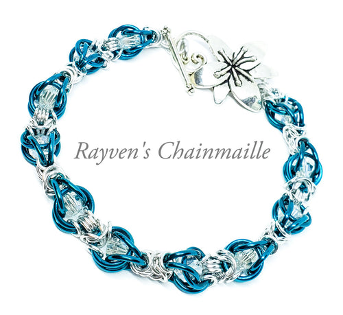 Captured Crystal Chainmaille Bracelet
