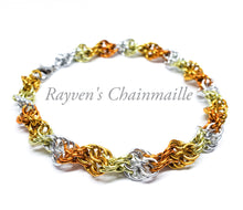 Load image into Gallery viewer, Rayven's Chainmaille| Sunburst Double Helix DNA Chainmail Bracelet