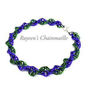 Rayven's Chainmaille| Double Helix DNA Chainmaille Bracelet