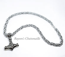 Load image into Gallery viewer, Thor's Hammer Mjölnir Chainmaille Necklace - Rayven's Chainmaille