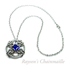Load image into Gallery viewer, Steel Forbidden Eye Swarovski Chainmaille Pendant