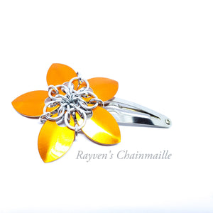 Scalemaille Flower Hair Clips