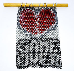 Game Over Wall Hanging Inlay - Rayven's Chainmaille