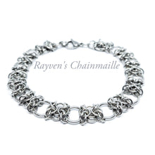 Load image into Gallery viewer, Stainless Steel Orc Weave Chainmaille Bracelet - Rayven's Chainmaille