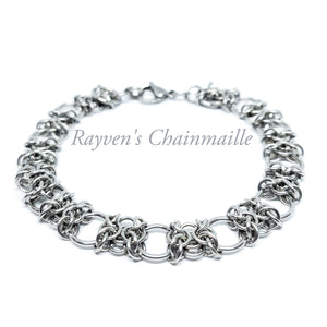 Stainless Steel Orc Weave Chainmaille Bracelet - Rayven's Chainmaille