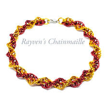 Load image into Gallery viewer, Rayven's Chainmaille| Red & Gold Double Helix Chainmaille Bracelet