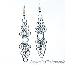 Load image into Gallery viewer, European 4-1 Chandelier Chainmail Earrings