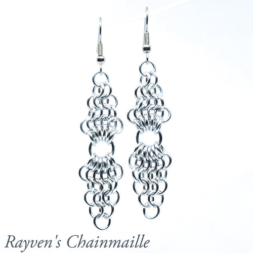European 4-1 Chandelier Chainmail Earrings