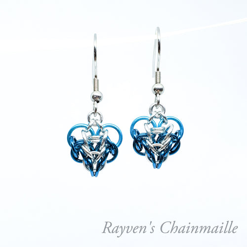 Rayven's Chainmaille| Small Chain Mail Persian Heart Earrings