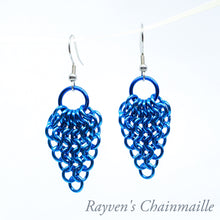 Load image into Gallery viewer, Gathered Euro Chainmaille Earrings