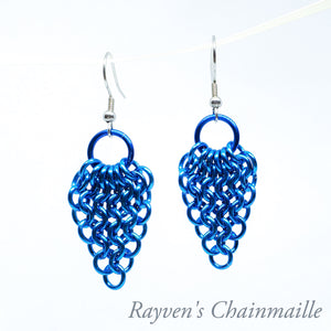 Gathered Euro Chainmaille Earrings