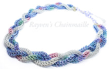 Load image into Gallery viewer, Unicorn Rainbow Foxtail Full Persian Braided Chainmail Necklace - Rayven's Chainmaille