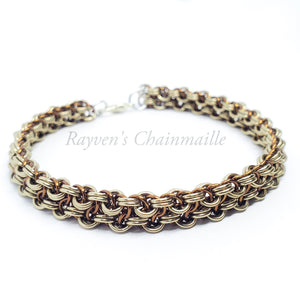 Rayven's Chainmaille| Champagne Vipera Berus Chainmail Bracelet
