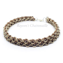 Load image into Gallery viewer, Rayven's Chainmaille| Champagne Vipera Berus Chainmail Bracelet