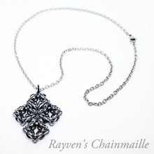 Load image into Gallery viewer, Rayven's Chainmaille| Celtic Labyrinth Chainmail Necklace