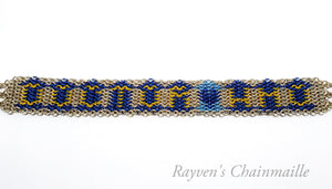 Doctor Who Tardis Micromaille Inlay Bracelet - Rayven's Chainmaille