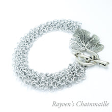 Load image into Gallery viewer, Rayven's Chainmaille| Silver Hoodoo Hex Chainmaille Bracelet