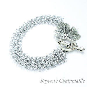 Rayven's Chainmaille| Silver Hoodoo Hex Chainmaille Bracelet