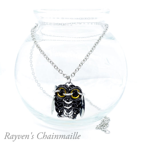 Owlet Chainmail Necklace - Rayven's Chainmaille