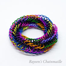Load image into Gallery viewer, Infinity Rose Mini Chainmaille Fidget Toy - Rayven's Chainmaille