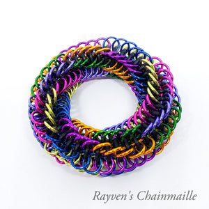 Infinity Rose Mini Chainmaille Fidget Toy - Rayven's Chainmaille