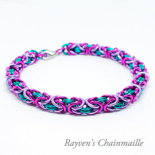Mermaid Byzantine Chainmail Bracelet - Rayven's Chainmaille