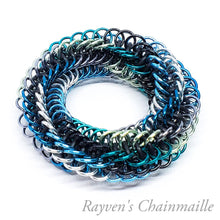 Load image into Gallery viewer, Sea Infinity Rose Mini Chainmail Fidget Toy - Rayven's Chainmaille