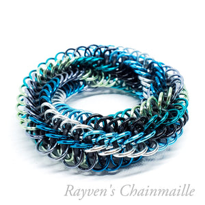 Sea Infinity Rose Mini Chainmail Fidget Toy - Rayven's Chainmaille